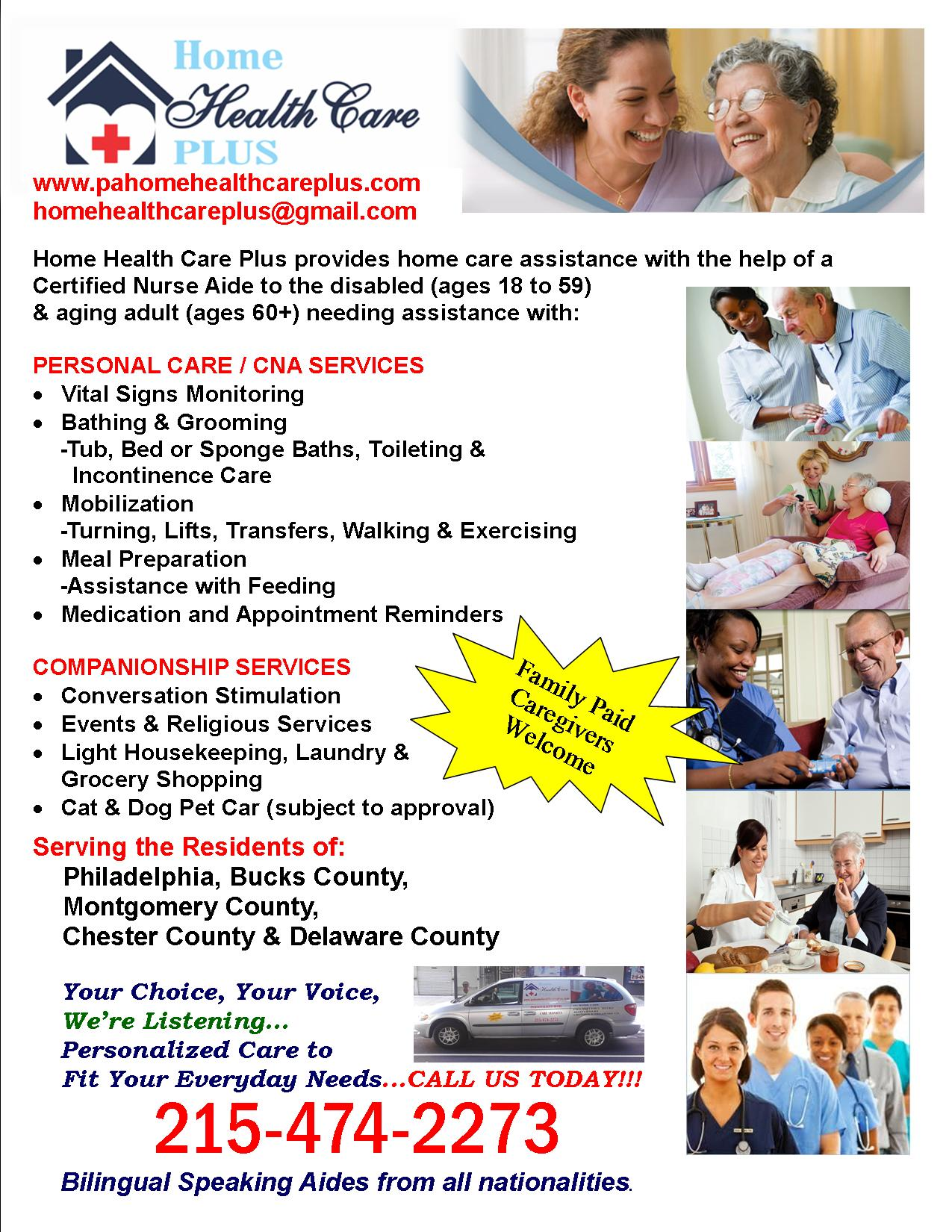 In home care companionship cna services philadelphia pa home download our services poster and share with a family member or friend 1betcityfo Choice Image